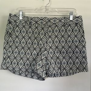LOFT Shorts, Blue Design, Size 6, NWT